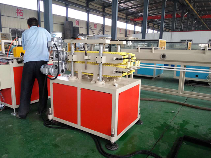 Testing PVC Twin-pipe Production Line