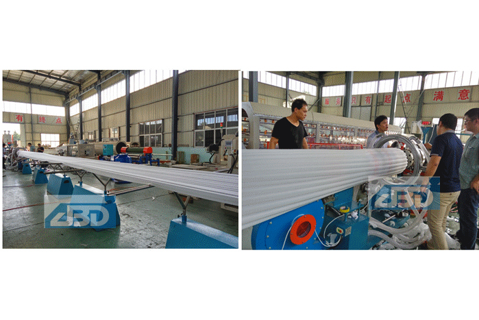Testing Paraguay client's EPE Foam Sheet Machine
